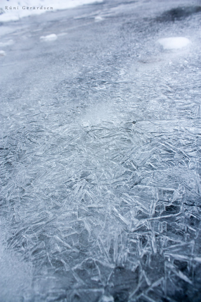 ground covered with ice